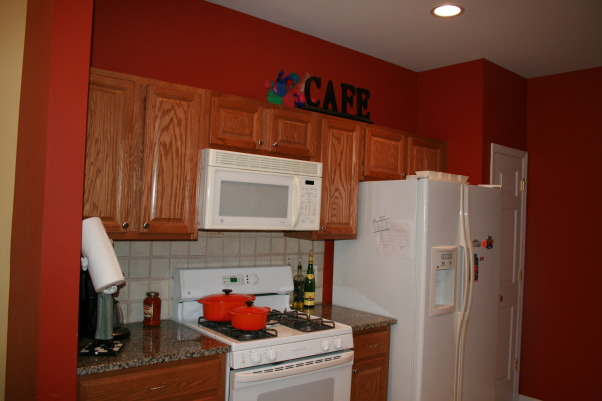 brighten up for my SM kitchen, after, before w/ dark oak...     , Kitchens Design