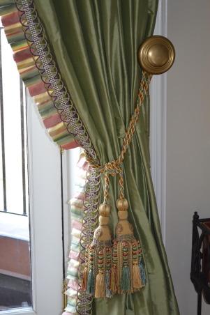 Whimsical MacKenzie Childs Kitchen, Pleated edge silk draperies., Kitchens Design