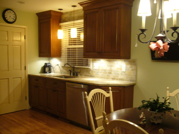French County in the City, Two small rooms made into one., Kitchens Design