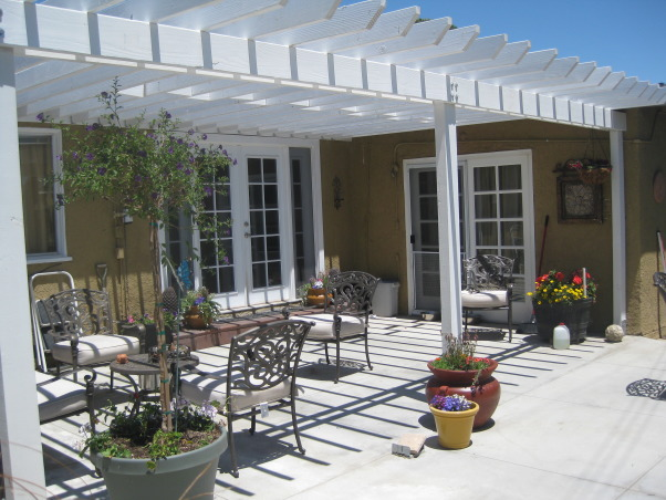 before and after, Patio,Pergola,New French Doors. Before and after (more to come), Much better and still a work in progress I did all the work myself!!, Outdoor Spaces