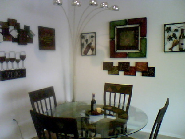 Wine Theme Dining, My diningroom adjoins to my livingroom. It is small, however I have tried to make it elegant so that the family would enjoy eating in it. , Dining Rooms Design