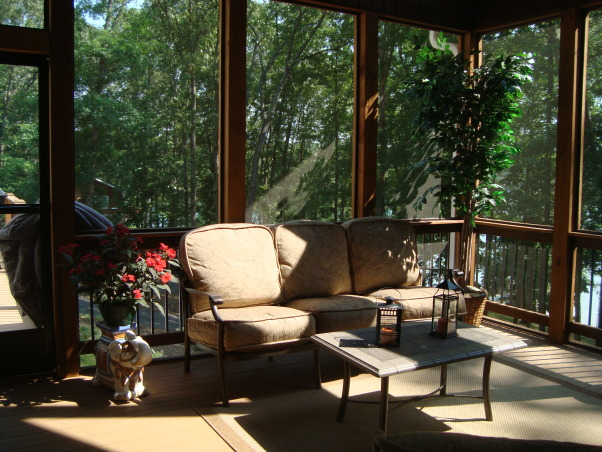 lake House Screen Porch, Porches Design