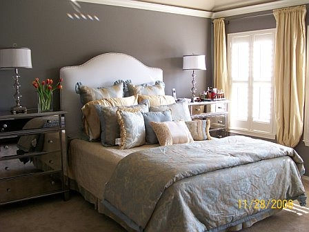 Boutique Inspired Bedroom, Master bedroom with high style on a shoestring budget of $2,000 (not including the mattress, which was a splurge). , Bedrooms Design