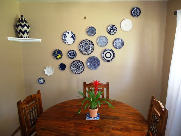 Little rustic dining space, The space is very small, but please feel free to give suggestions!, My wall of plates!, Dining Rooms Design