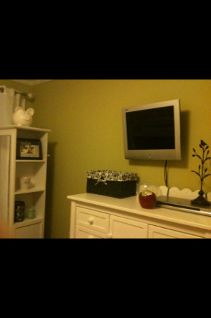 Cheap and quick!, My girls decided that they wanted a green room and so I had to paint once again. It was simple, easy and cheap. total cost $400. Everything is from Target Tj Maxx, or Marshalls. I did all the work... including taping the crown molding...which i loooooove to do. , Small rooms are best to keep clutter free. , Girls' Rooms Design