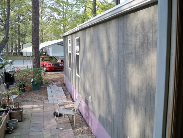 Mobile home exterior remodel, Install  siding and underpinning, siding and underpinning , Home Exterior Design