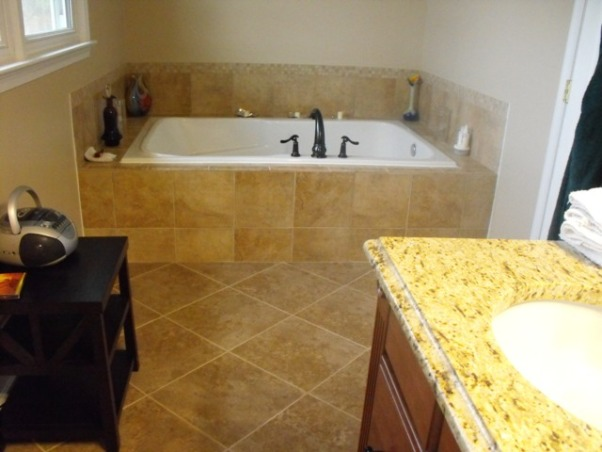 Split Foyer remodel, This is the other side with the soaker tub. A special note here: This tub is 72 X 48...if installing a tub this large make sure you have a tankless water heater installed with it...you will need it!, Kitchens Design
