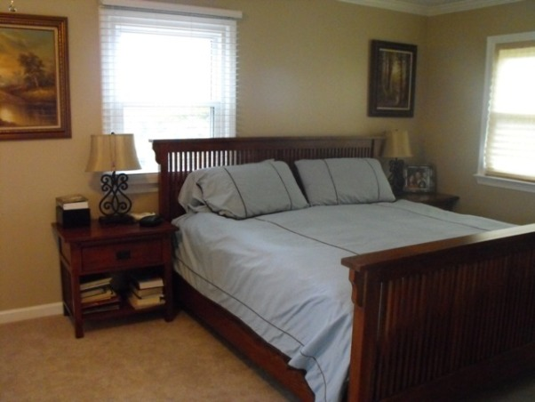 Split Foyer remodel, This is the master bedroom after. We actually deleted one of the bedrooms, (this was a five bedroom home with no real master suite) we took out the wall and made a double sink, soaker tub master bathroom. , Kitchens Design