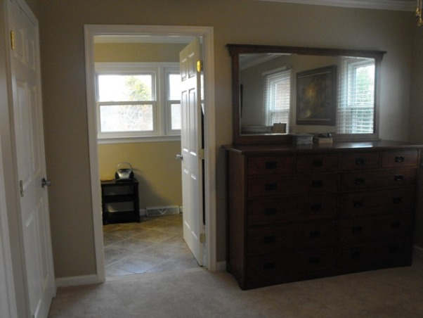 Split Foyer remodel, This is the new wall we created to separate the master bedroom from master bathroom. , Kitchens Design
