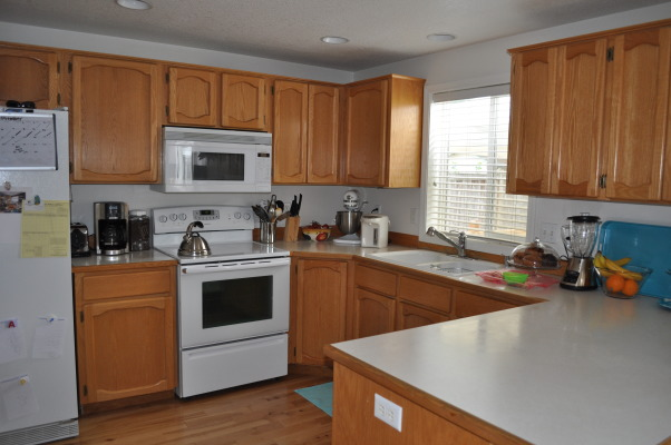 Our Kitchen, We remodeled our kitchen with a budget of $3,500. we did not exceed it. Take a look at the before picture.   We did all the work ourselves. I love my new kitchen. , The before, YUCK!, Kitchens Design