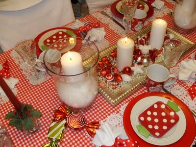 Holiday Tablescapes, Dining room in our farmhouse, Red and white tablescape, Holidays Design