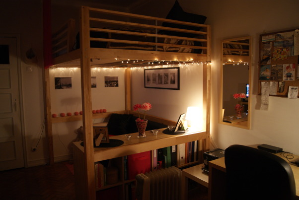 Update - 2nd year Dormroom Apartment, A portuguese student can't have the academic spirit of USA, so we done what's is possible.. This is my room in my second year in Lisbon, Some vision , Dorm Rooms Design