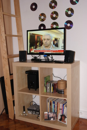 Update - 2nd year Dormroom Apartment, A portuguese student can't have the academic spirit of USA, so we done what's is possible.. This is my room in my second year in Lisbon, Media Area... , Dorm Rooms Design