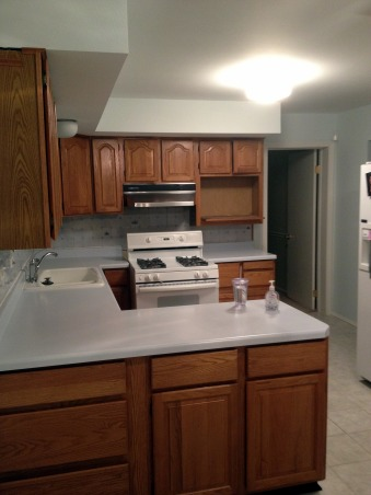 Remodeled White Kitchen!, We removed an existing wall between the family room and kitchen to open up the space.  2 months later, this is what we got!  Now we just need furniture!, The old stove is replaced by a microwave cabinet and more counters and cabinets.   , Kitchens Design