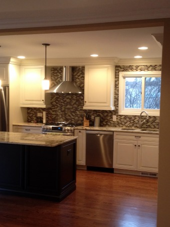 Remodeled White Kitchen!, We removed an existing wall between the family room and kitchen to open up the space.  2 months later, this is what we got!  Now we just need furniture!, New Kitchen! No more wall!   , Kitchens Design