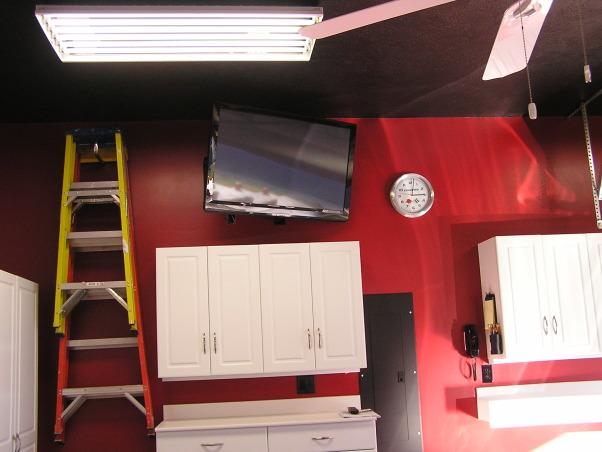 "Is that a Garage or a Corvette Shop?, November 2011 Christmas Gift, 42"" Panasonic Plasma , Garages Design"