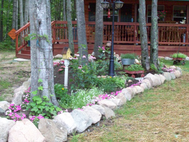 rock edged flower bed..., rock edged flower bed, after..., Yards Design