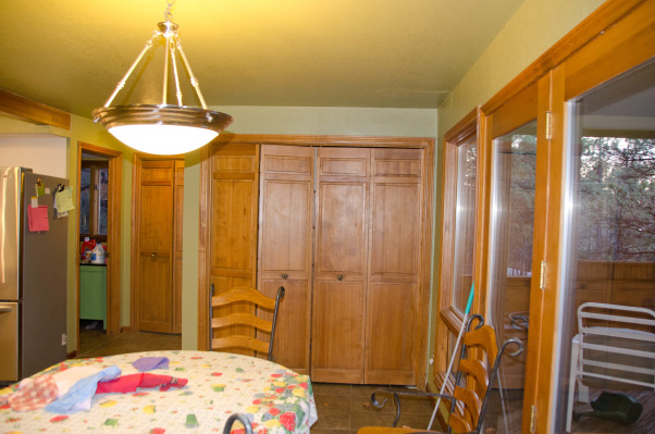 Kitchen Before and After, old country cabinets and tile counters, The old pantry, not very usefull.    , Kitchens Design
