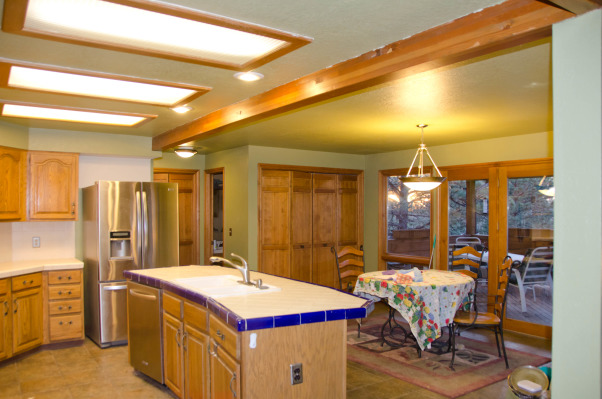 Kitchen Before and After, old country cabinets and tile counters, Kitchens Design