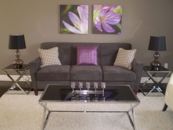 Information about rate my space questions for Grey and purple living room
