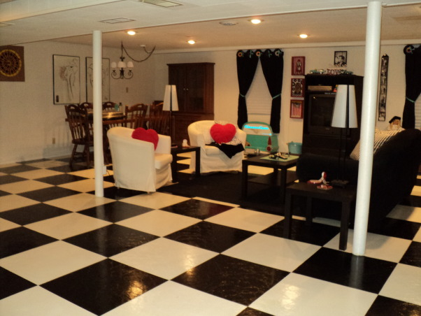 Basement Painted floors, Basement painted floors, Basement floors painted   , Basements Design