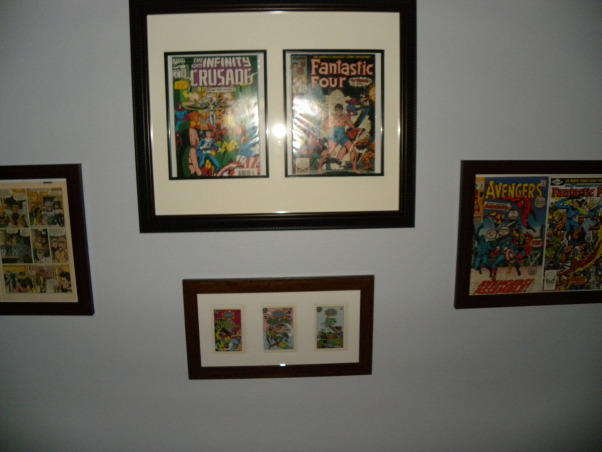 Vintage Superhero Baby, We had never seen anyone else do a super hero nursery and we decided our boy deserved the first!!! Much hard work and it came to be :), The middle framed comic books belonged to my husbands Uncle Dale. He suddenly passed away when I was 20 weeks pregnant. We gave our boy his name as a middle name and placed his comic books right over where our boy would sleep. , Nurseries Design