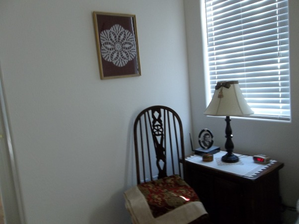 CHARMING MASTER, COMFORTABLE SPACIOUS AIRY SPACE WITH BIT OF COLOR,FURNITURE 40 YEARS OLD., $5 DOLLAR CHAIR MY HUSBAND STRIPPED AND PAINTED, Bedrooms Design