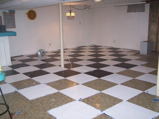 Basement Painted floors, Basement painted floors, process of painted floor  , Basements Design