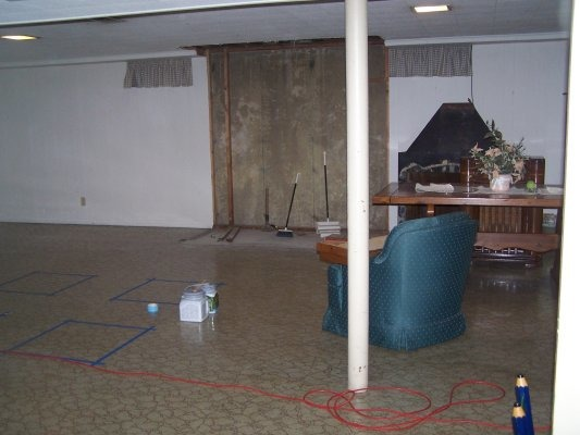 Basement Painted floors, Basement painted floors, Before the paint  , Basements Design