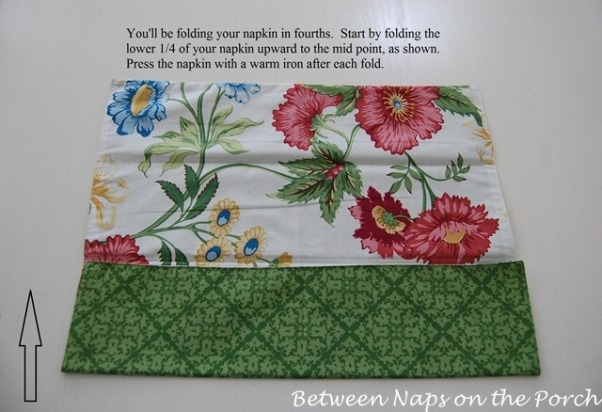 Bunny Napkin Fold, Tutorial: Bunny Napkin Fold for Your Easter Table, Step 2  , Holidays Design
