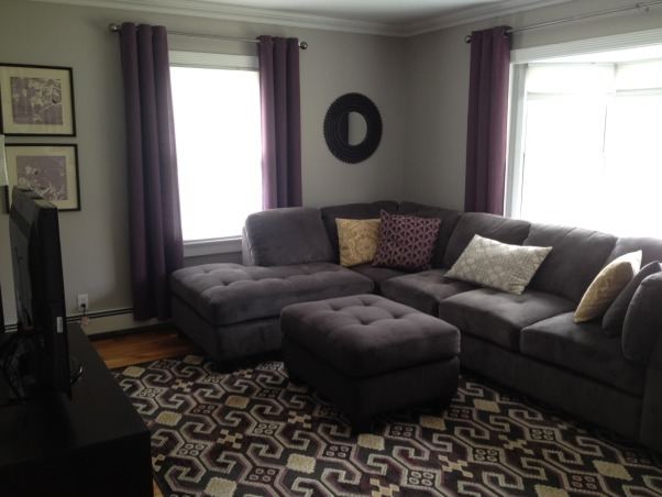 ... Gray Plum Living Room Gray Living Room With Accent Colors Of Plum ... Part 21