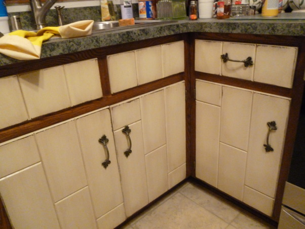 Kitchen Makeover, Kitchen makeover with cherry cabinets (coffee color), granite and glass-natural stone back splash., Old kitchen, Kitchens Design