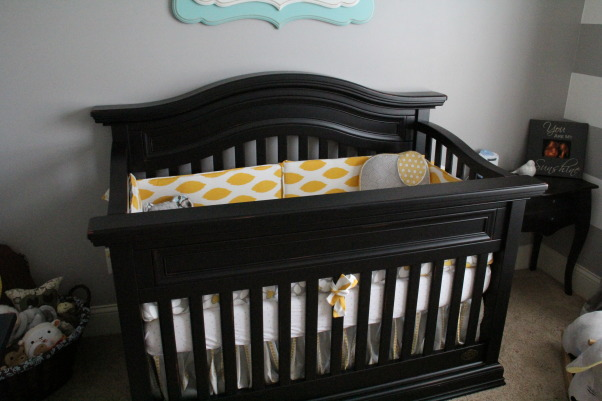 Yellow, Grey and Teal Gender Neutral Nursery, A gender neutral nursery that is calm and relaxing. , Bedding: NurseryDreams from Etsy  , Nurseries Design
