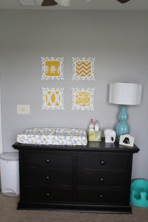 Yellow, Grey and Teal Gender Neutral Nursery, A gender neutral nursery that is calm and relaxing. , Nurseries Design