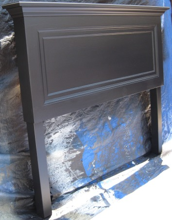 Old door headboards, One panel old door made into a headboard then sprayed satin black to finish it off.  Great conversation piece for any bedroom., One panel old door made into a headboard.  Finish with a satin black finish., Bedrooms Design