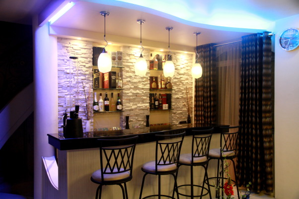 Living Room Bar, modern living room bar, bar, Living Rooms Design