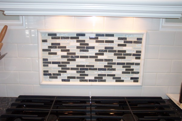 1940's Cottage Kitchen, 1940' Cottage kitchen on a budget., Here is a close up of the new inset backsplash.   , Kitchens Design