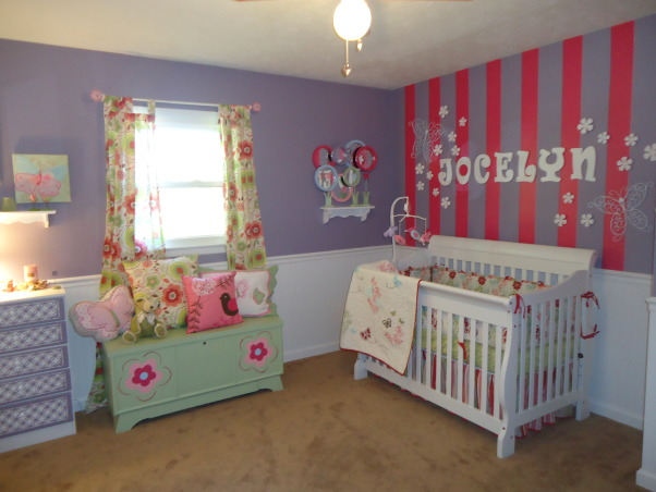 Jocelyn's Room, This is my daughter Jocelyn Annalise's room.  I started with a theme of butterflies and flowers and it grew from there. , My daughter Jocelyn Annalise's room. , Nurseries Design