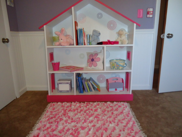 Jocelyn's Room, This is my daughter Jocelyn Annalise's room.  I started with a theme of butterflies and flowers and it grew from there. , Made this bookshelf using plans I found on the internet , Nurseries Design