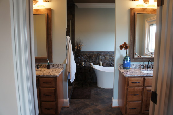 Nature's Inspiration, My husband and I love the outdoors ... and we wanted to bring it inside so we could enjoy it everyday, Double vanities... split bathroom areas , Bathrooms Design