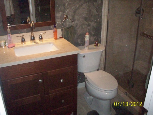 Very small bathroom remodeled under $2000, Bathroom after , Bathrooms Design