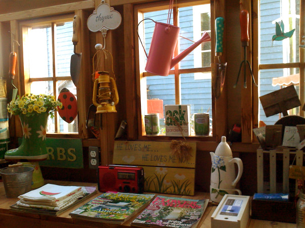 My garden and potting shed, Hello! I decide to share with you photos of my garden and potting place. When we first bought the house, there was NOTHING outside...so, with a friend we made plans and made all the garden...the potting shed was made with the help of 7 good friends...hope you enjoy looking at these! Margot, from Quebec, Inside my potting shed  , Gardens Design