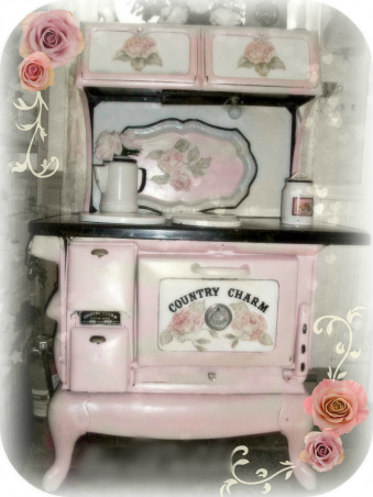 SHABBY CHIC PINK KITCHEN, My tiny pink kitchen may be lacking square footage, but definitely not personality!! Everything is either re~cycled, re~purposed, or re~painted., This little shabby pink kitchen has tons of character .      , Kitchens Design