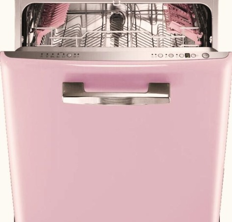 SHABBY CHIC PINK KITCHEN, My tiny pink kitchen may be lacking square footage, but definitely not personality!! Everything is either re~cycled, re~purposed, or re~painted., pink dishwasher!  , Kitchens Design