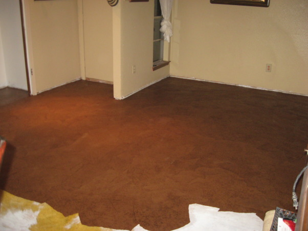 Brown bag floor, Can't afford wood floors so I decided to do brown bag floors in my house. , paper down and will seal with water based poly       , Other Spaces Design