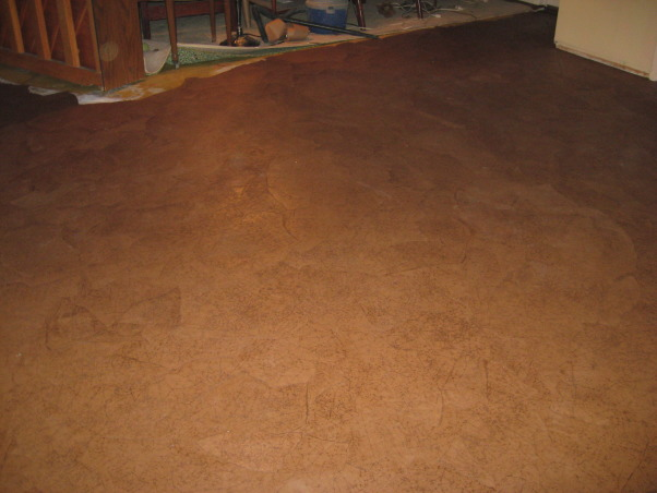Brown bag floor, Can't afford wood floors so I decided to do brown bag floors in my house. , looks like a cross between leather and cork        , Other Spaces Design