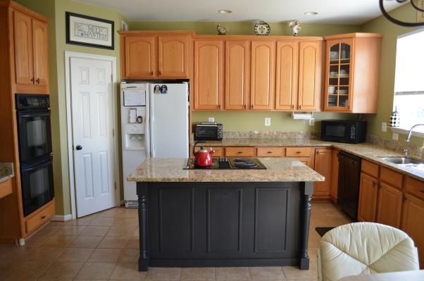 Kitchen island makeover with diy kitchen island also update kitchen