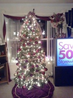 Christmas at my house, My tree is a female tree it has high heels and pocket book.. etc..  , Holidays Design