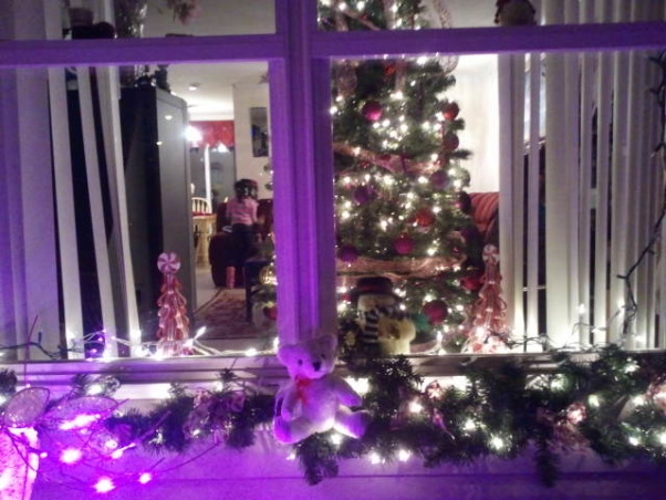 Christmas at my house, The pink Christmas decorations is to support breast cancer. , Holidays Design