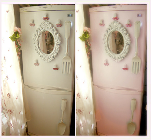 SHABBY CHIC PINK KITCHEN, My tiny pink kitchen may be lacking square footage, but definitely not personality!! Everything is either re~cycled, re~purposed, or re~painted., PINK OR WHITE???, Kitchens Design